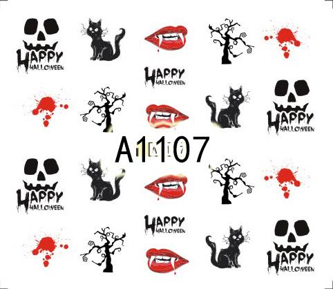 Halloween Akril Hatású Matrica,vizes,A1107