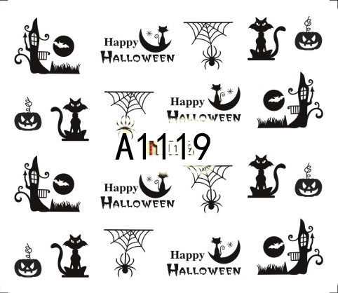 Halloween Akril Hatású Matrica,vizes,A1119
