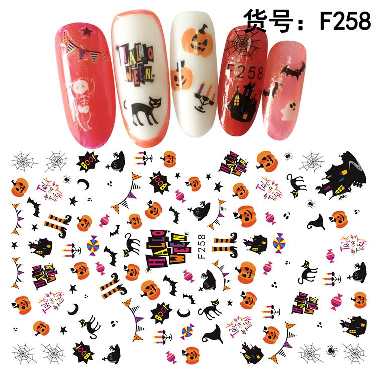 Halloween Köröm  matrica ,öntapadós, F258