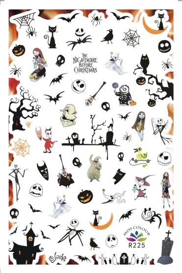 HalloweenKöröm  matrica ,öntapadós,R225