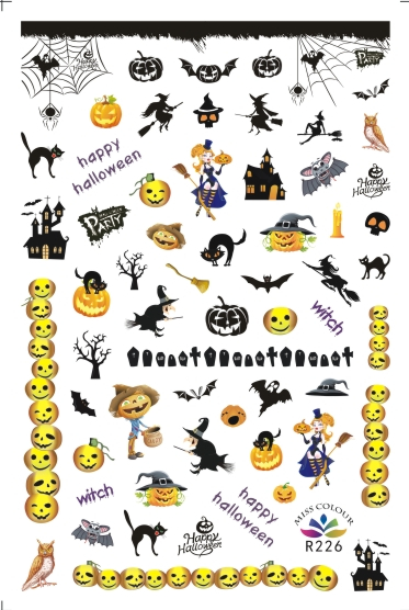 HalloweenKöröm  matrica ,öntapadós,R226
