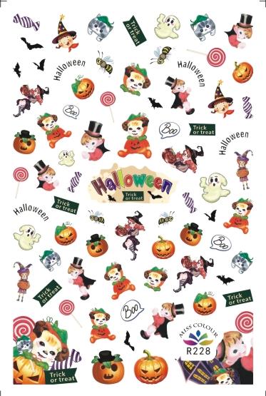 HalloweenKöröm  matrica ,öntapadós,R228