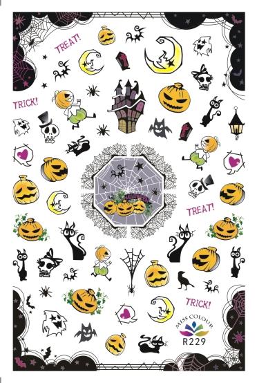 HalloweenKöröm  matrica ,öntapadós,R229