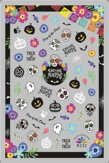 HalloweenKöröm  matrica ,öntapadós,R232