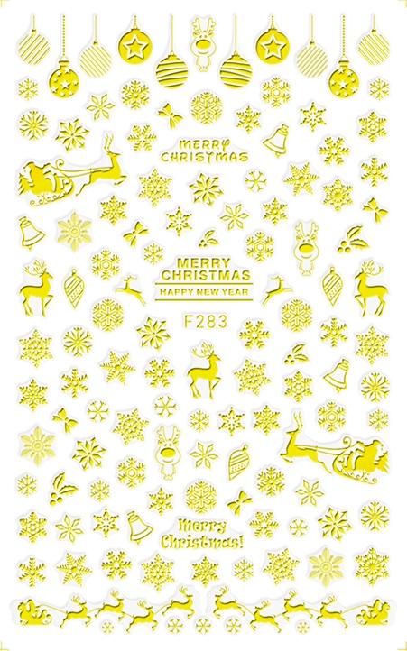 Karácsony Köröm  matrica ,öntapadós,F283-G