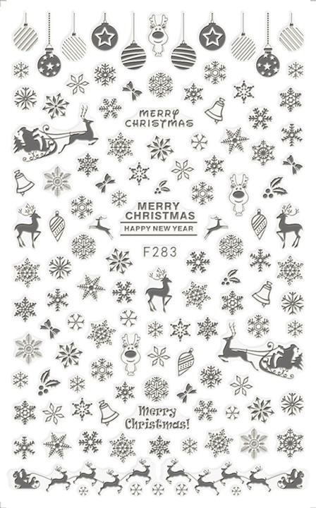 Karácsony Köröm  matrica ,öntapadós,F283-E