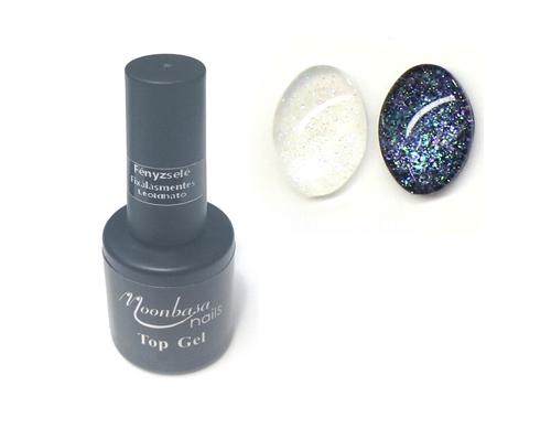 MOONBASA Glitter Fényzselé 6ml,Fixálásmentes leoldható ,top14#