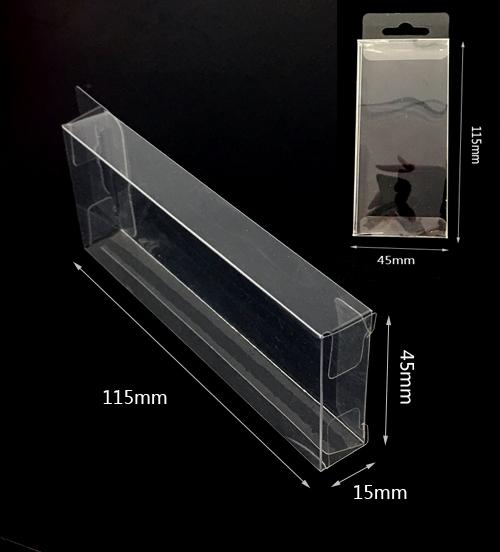 Átlátszó műanyag doboz115mmx15mmx45mm