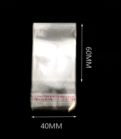 Átlátszó öntapadó opp zacskó 40mm x60mm 200/cs