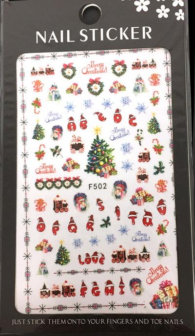 Karácsony Köröm  matrica ,öntapadós,F502
