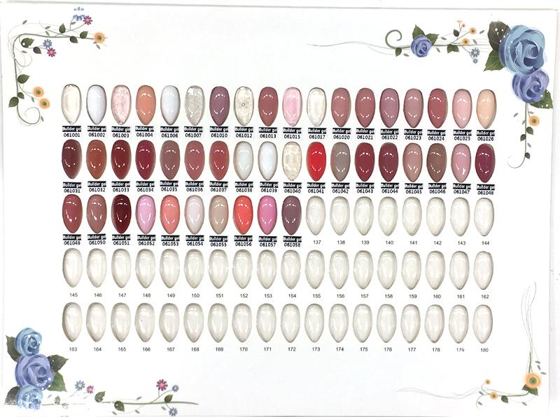 Építő zselé Festett színskála  001-058