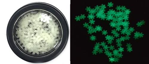 Világító glitter -6mm hópehely