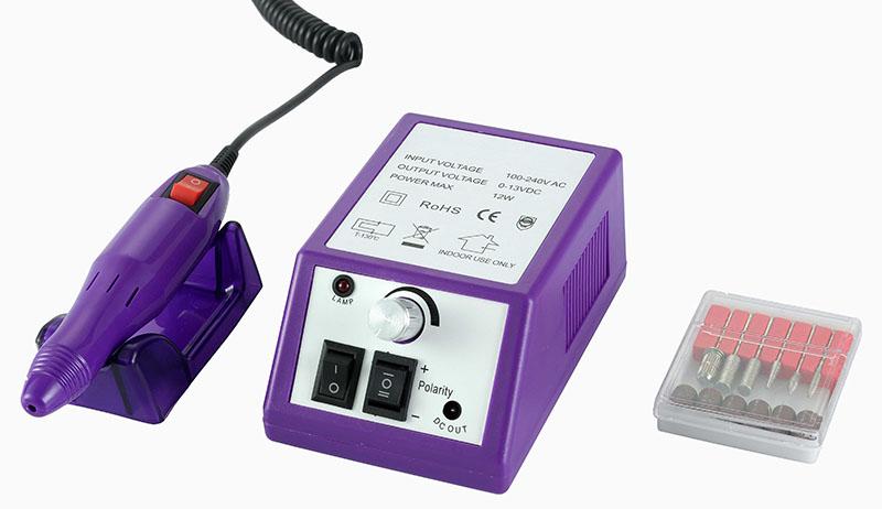 Műköröm csiszológép SET HBS-025N,lila