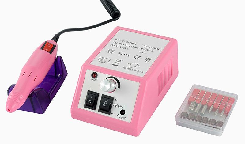 Műköröm csiszológép SET HBS-025N,pink