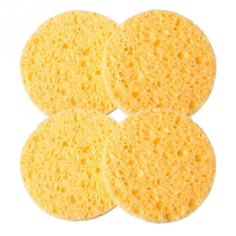 kozmetikai lemosó szivacs-sárga,φ10cm