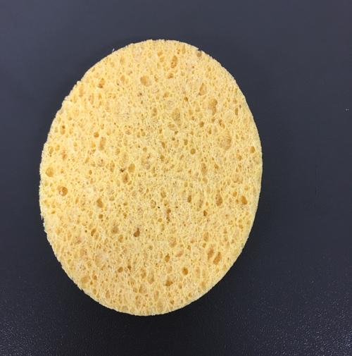 kozmetikai lemosó szivacs-sárga,φ6.5CMx8.3CM