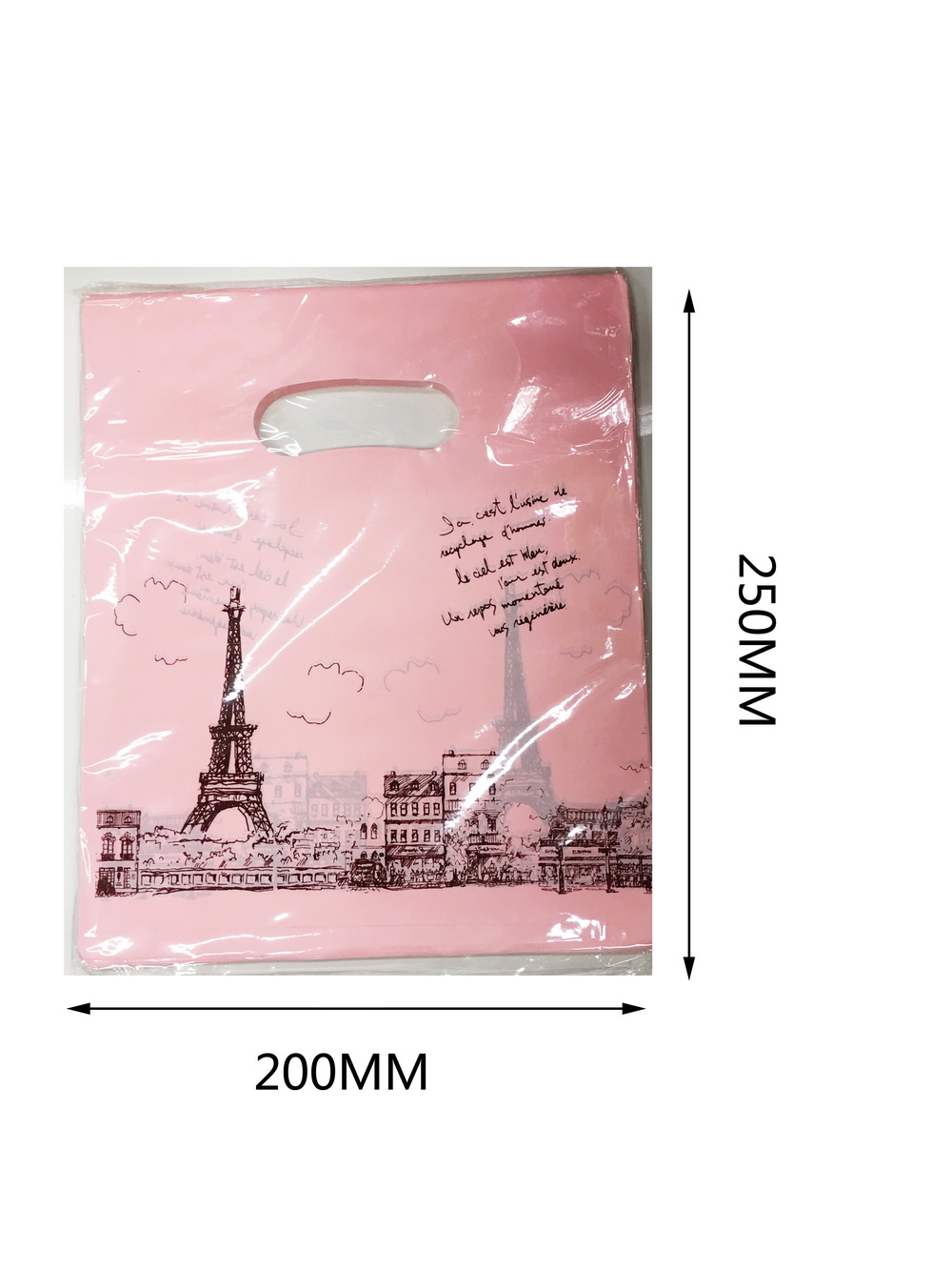 Műanyag zacskó M200mm x250mm 100/cs
