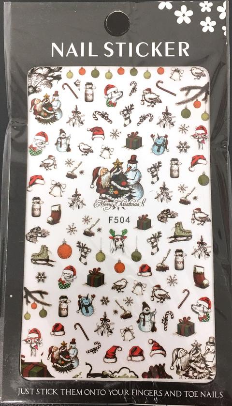 Karácsony Köröm  matrica ,öntapadós,
