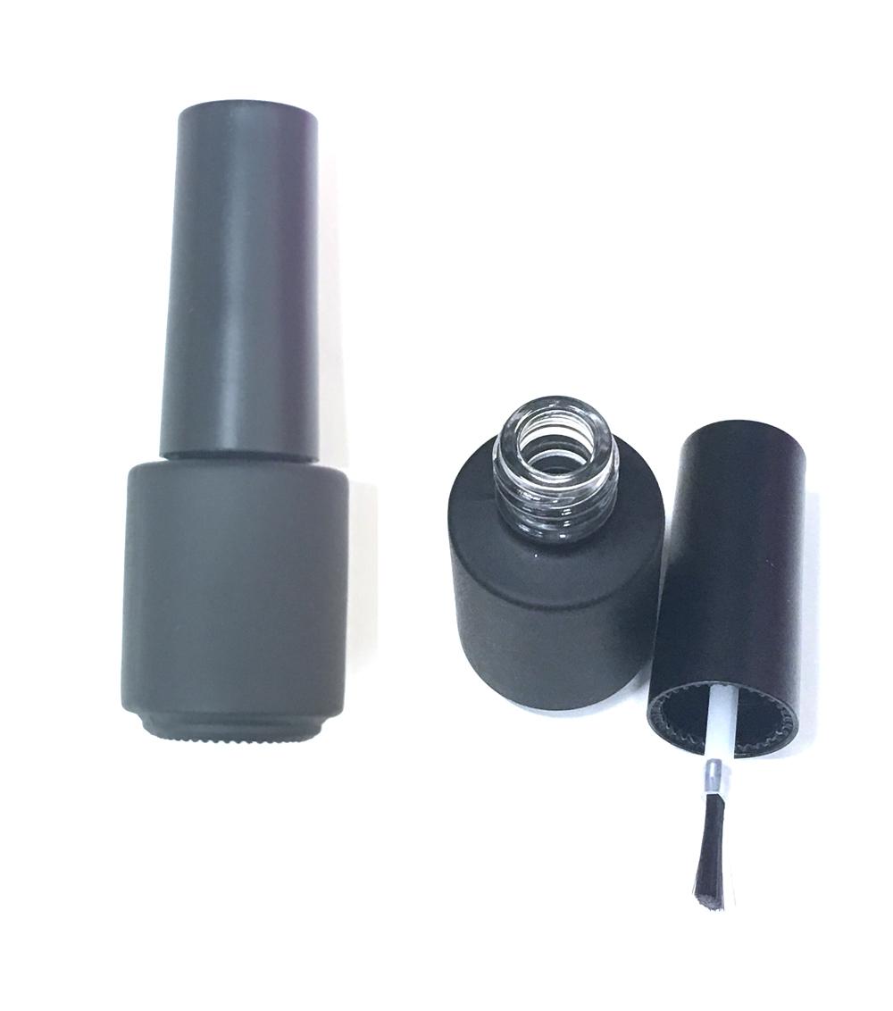 Körömlakk fekete üveg+kupak+ecset, DH1#-5ml