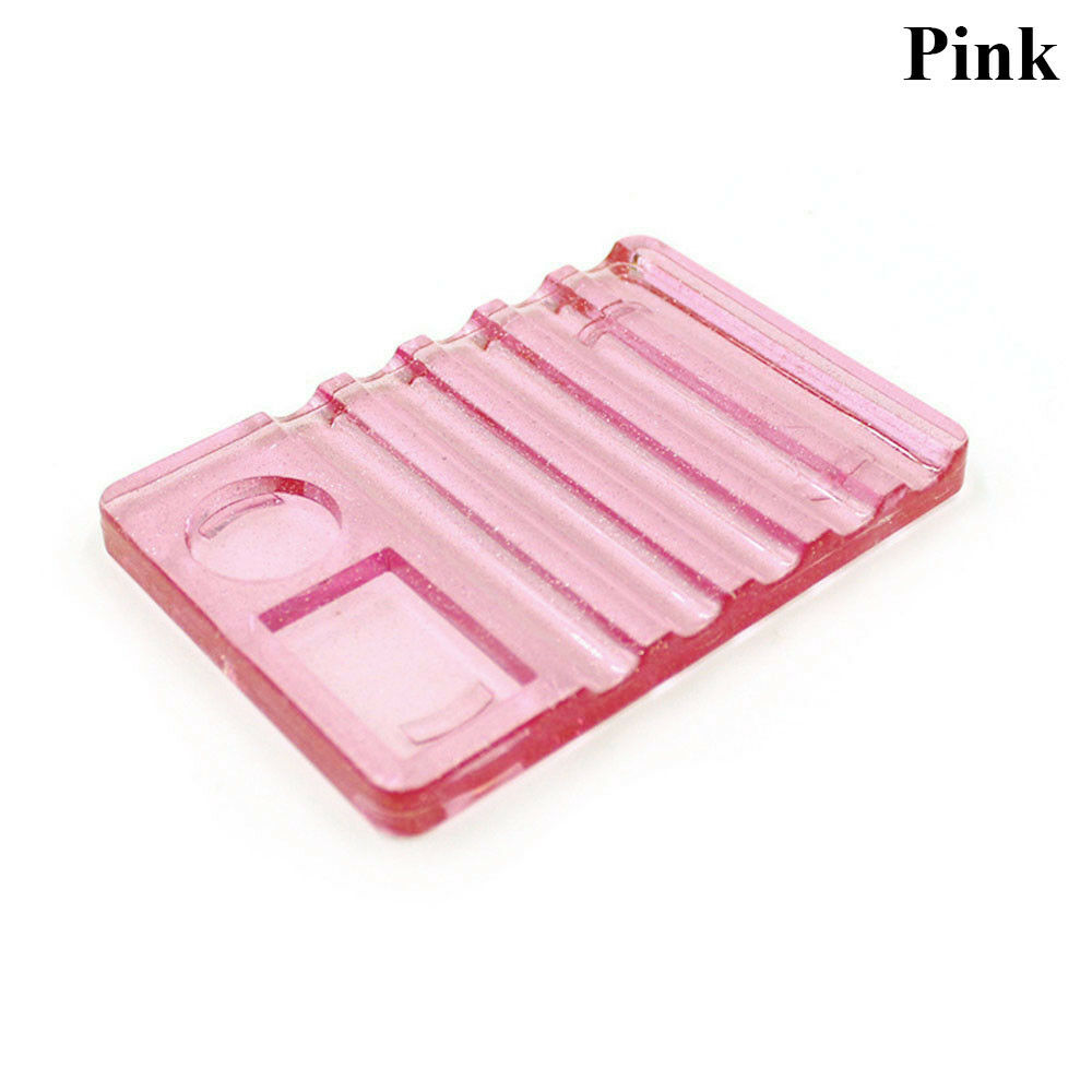 Körmös paletta ecsettartóval-pink