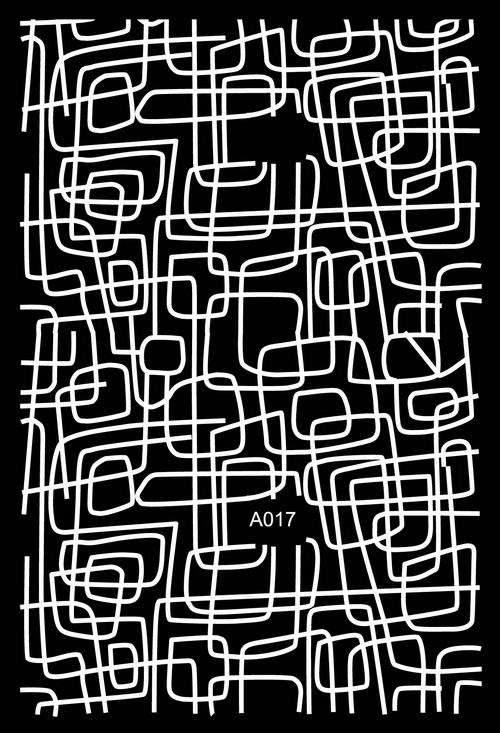 Köröm Matrica,öntapadós,A017-white