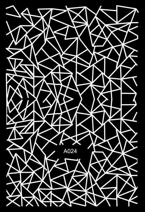 Köröm Matrica,öntapadós,A024-white