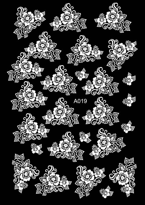 Köröm Matrica,öntapadós,A019-white