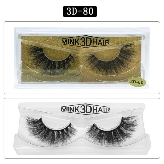 3D természetes szempilla ,Natural black,1 Pár