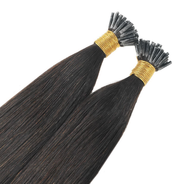 Loops hair extension,100% eredeti haj 100gr,color 0#,(natural)