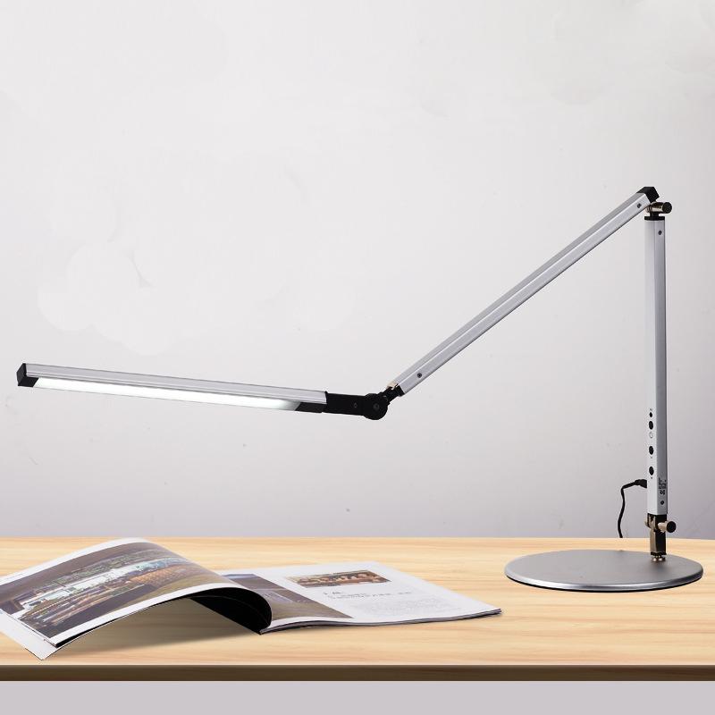 10W LED Talpas asztali lámpa, távkapcsolóval(ezüst)