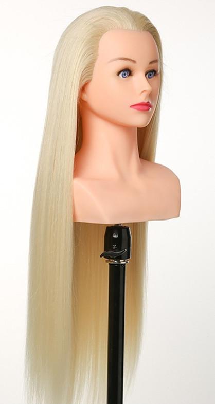 Gyakorló fej- természetes hatású haj(60cm/220g) - PLATINA SZŐKE