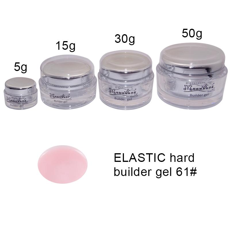 Moonbasanails-ELASTIC hard builder gel 61#-Lakkecsettel felvihető
