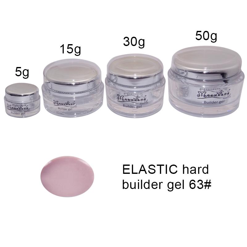 Moonbasanails-ELASTIC hard builder gel 63#-Lakkecsettel felvihető