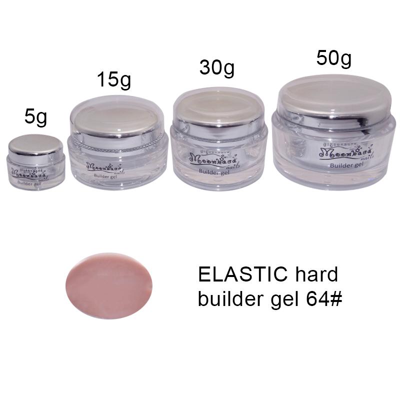 Moonbasanails-ELASTIC hard builder gel 64#-Lakkecsettel felvihető