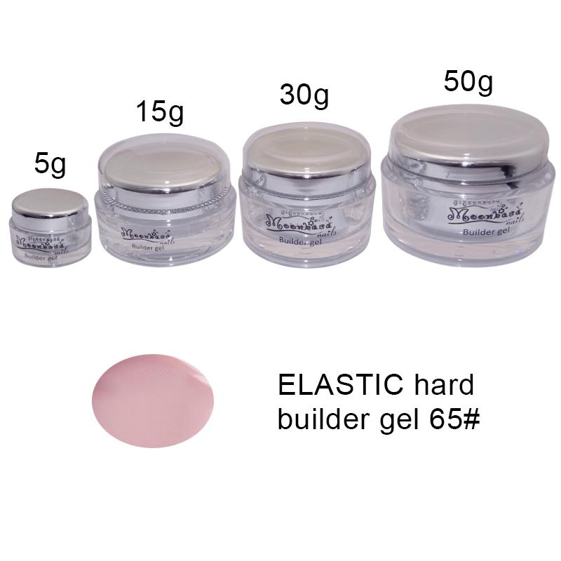 Moonbasanails-ELASTIC hard builder gel 65#-Lakkecsettel felvihető