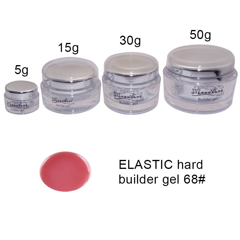 Moonbasanails-ELASTIC hard builder gel 68#-Lakkecsettel felvihető