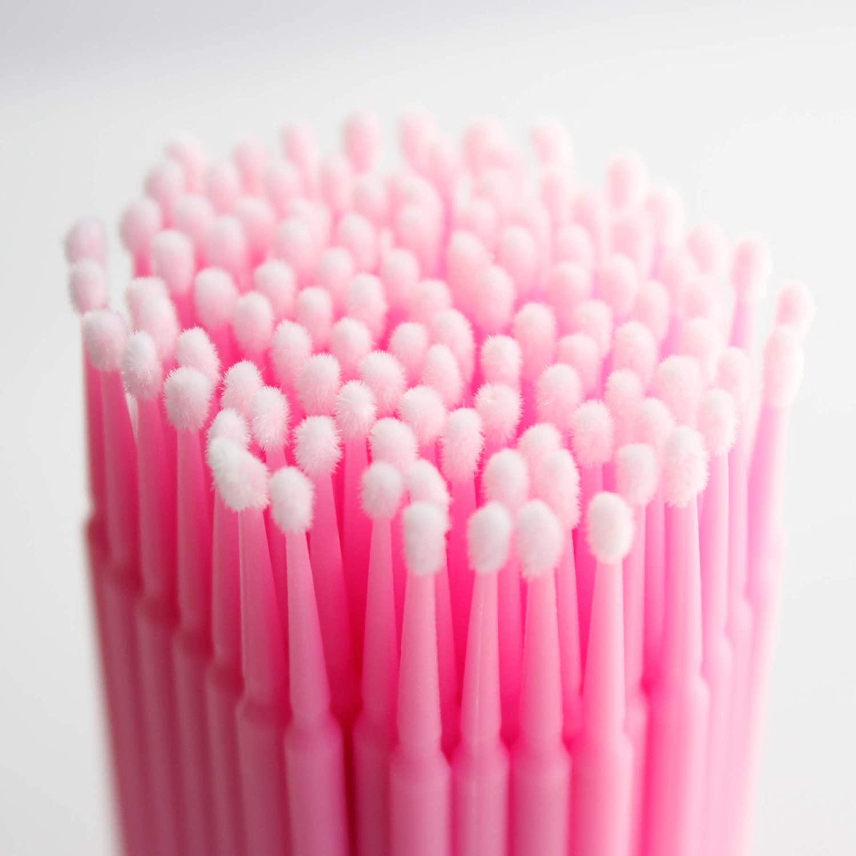 Smink fixáló/tisztító aplikátor 100db,pink
